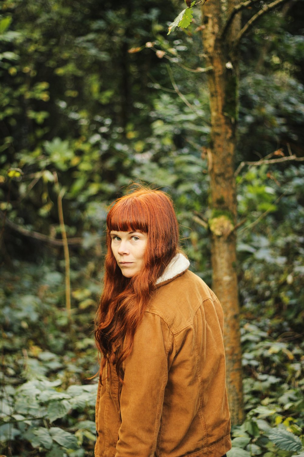 Autumn Girl in Woods