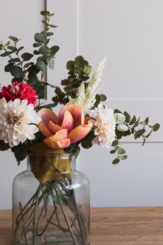Fake flower bouquet bright colours