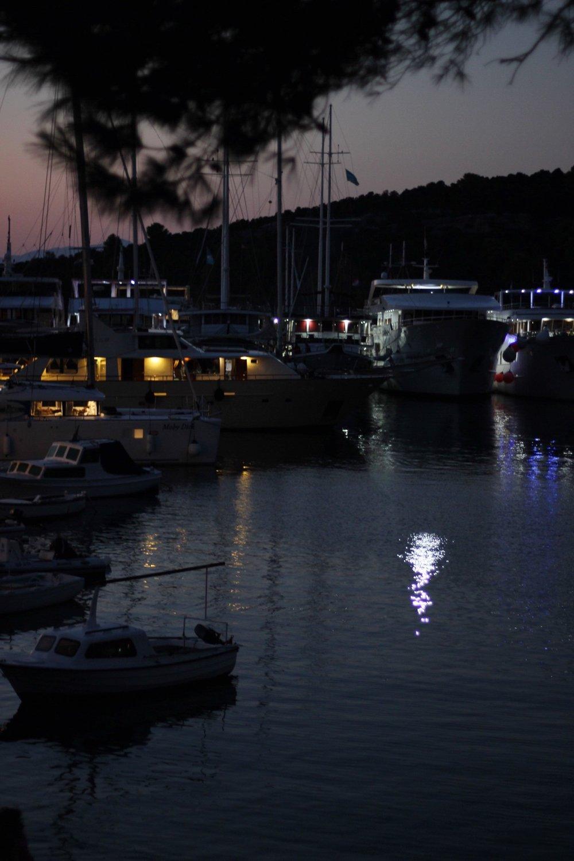Sunset at Mljet harbour