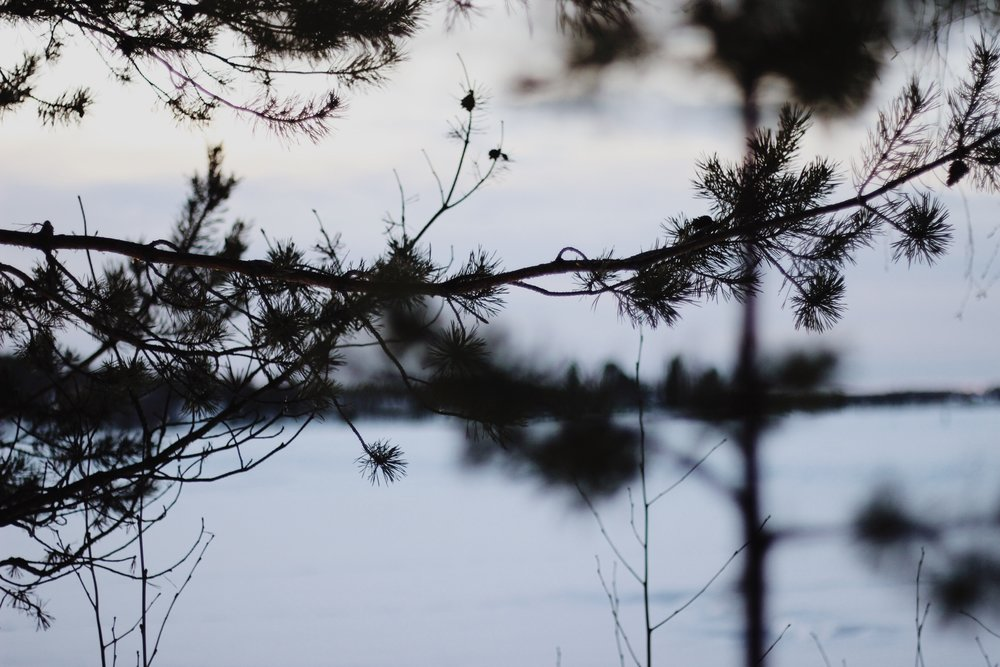 Rovaniemi, Finnish Lapland, in the snow