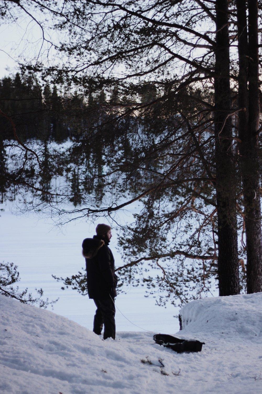 Sledging in Rovaniemi, Finland
