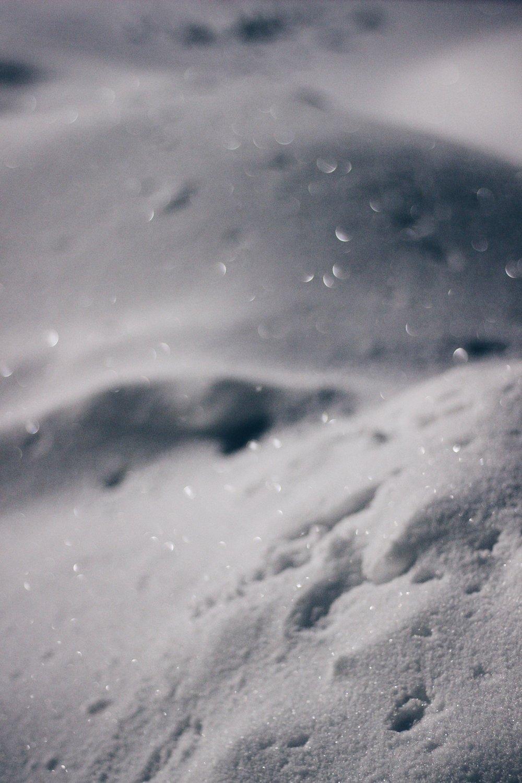 Snow, white, bokeh