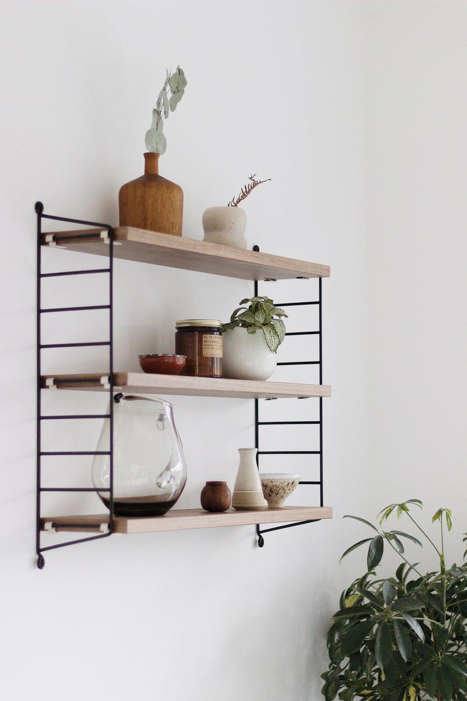 String Shelf, Scandinavian inspired interiors, Shelfie