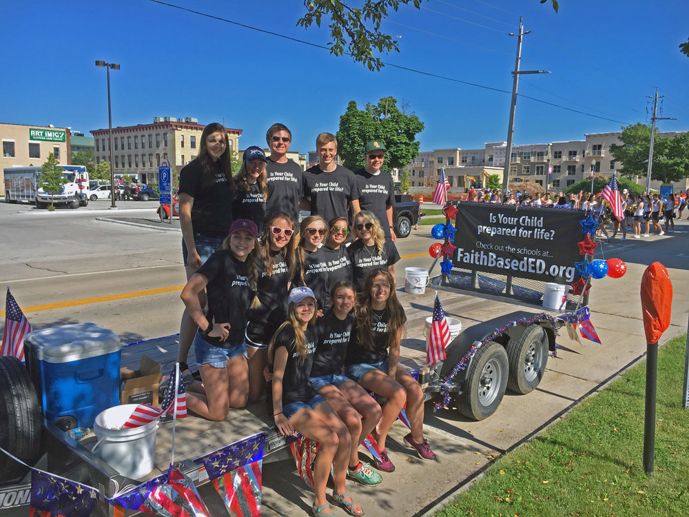 A special thanks to all the Lutheran High and Christian High students who manned our float!