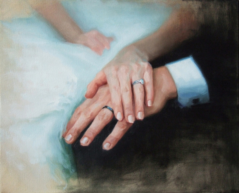 WEDDING HANDS 16x20