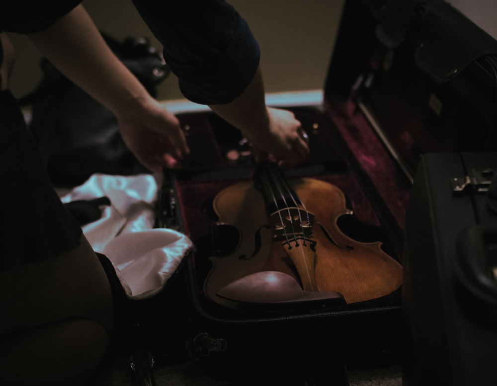 My friend Sam and her viola.