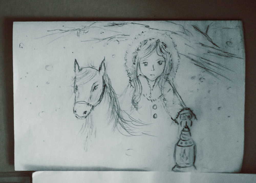 Concept art sketched by Nori.