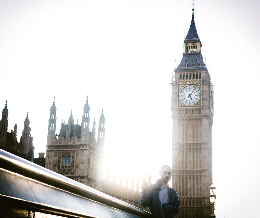 Me chillin' next to Big Ben.