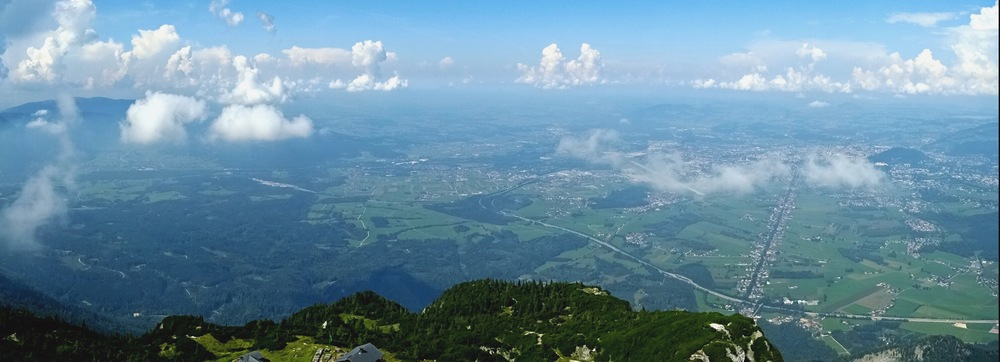View from the top of Mt. Untersberg
