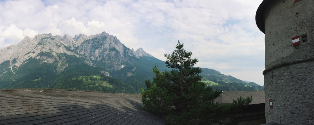 View from Hohenwerfen Castle