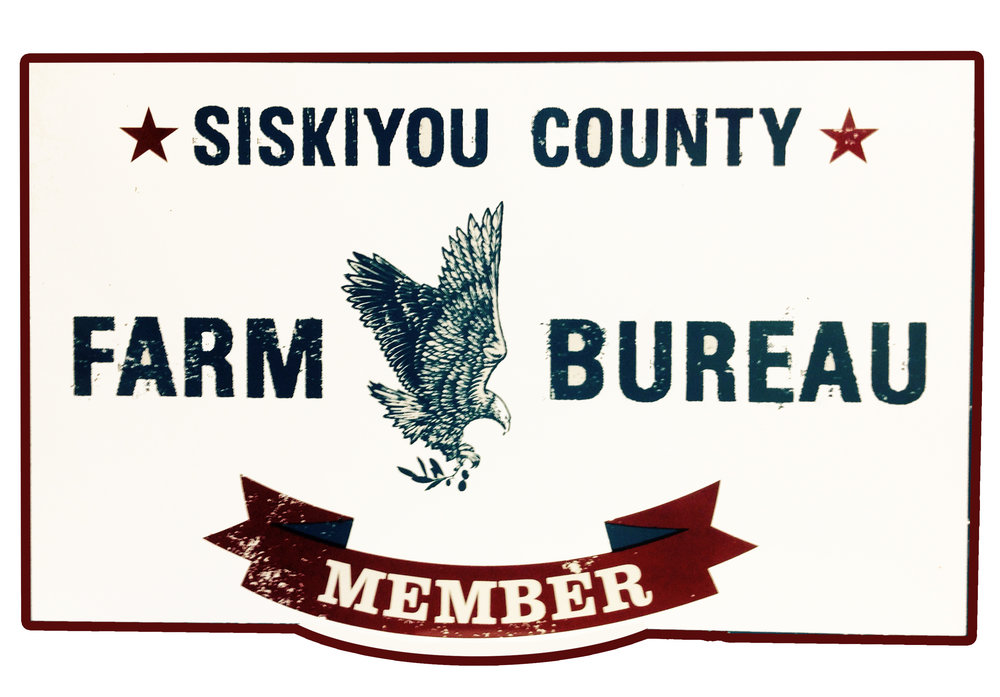 Purchase the official Siskiyou County Farm Bureau aluminum sign for your farm or business. | $10.00