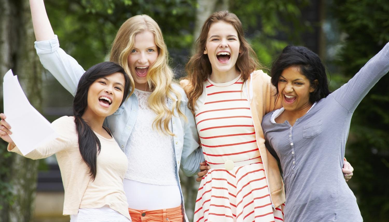 Exotic brunette teen is full