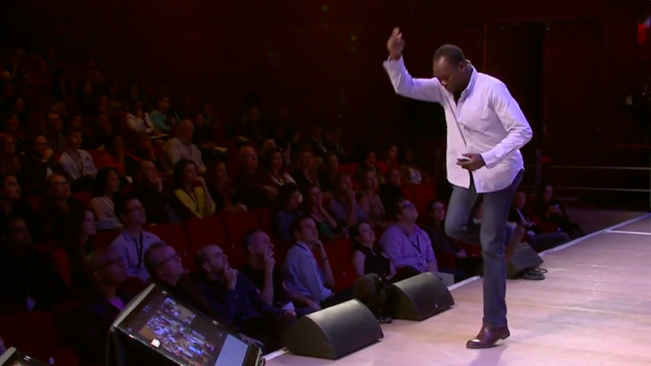 DIEBEDO FRANCIS KERE DURING HIS TED TALK:   HOW TO BUILD WITH CLAY... AND COMMUNITY