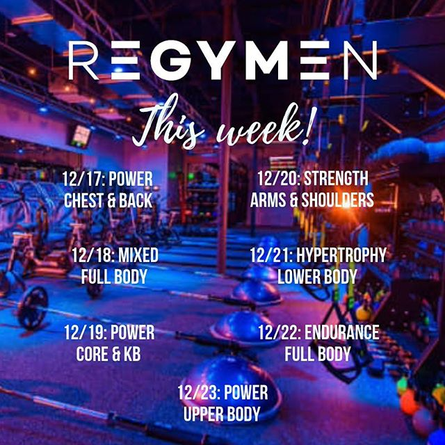 Make the time! Coming up@this week at @regymenfitness 💪🏼🔥 #dailyworkouts