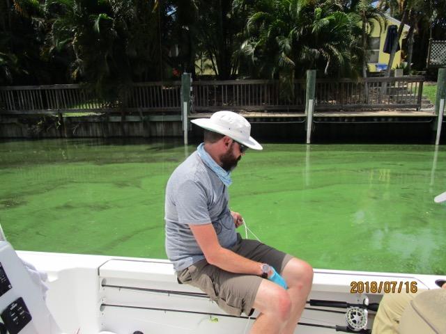 Dr James Metcalf sampling in Florida