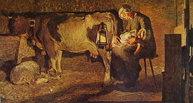Giovanni Segantini,Le due madri ,  1889