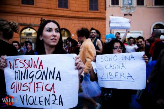 At the recent SlutWalk in Rome. (click image for source)