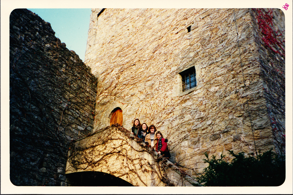 Me (second from the left) visiting Porciano Castle in 1995.
