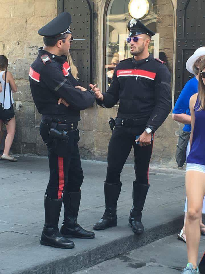 This uncredited photo of carabinieri in Florence went viral last summer after Stefano Secchi posted it on Facebook.