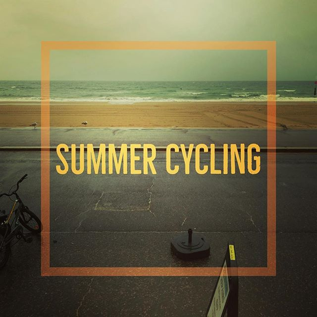 Come on down for a proper British summertime adventure! Bring your emergency poncho!! ##properbritishsummer #cycling #rain #weather #bournemouth #bournemouthbeach #boscombebeach