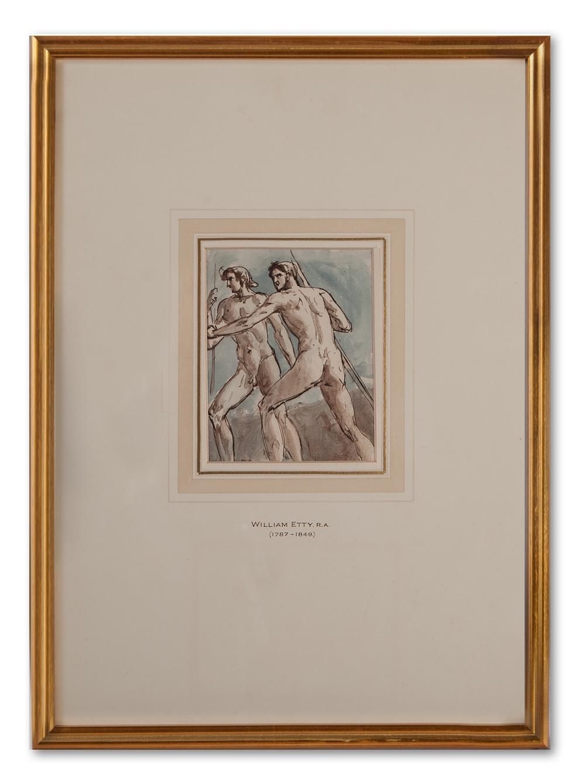 William Etty, R.A. (British 1787-1849), Two Warriors.