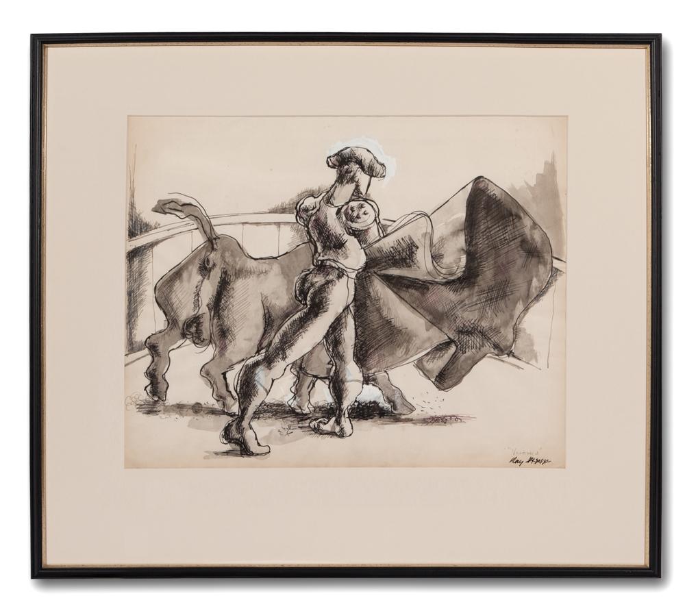 Michael Ayrton, (British 1921-1975), Bullfight, Verónica, 1939.