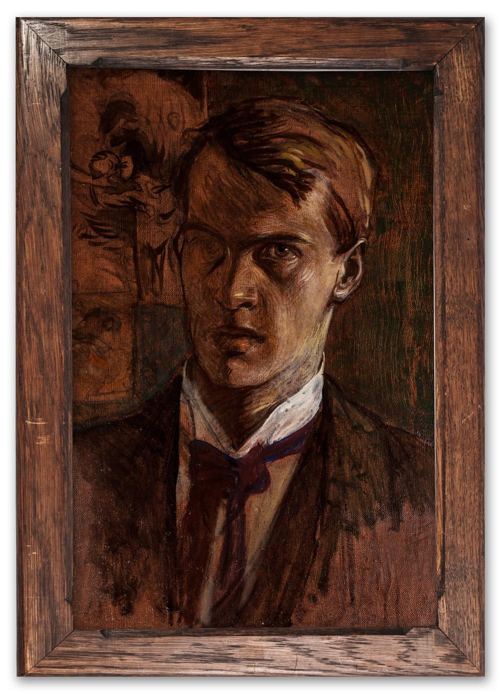 Paul Larsson Palm, (Swedish 1876-1899), Self-portrait, c.1897.
