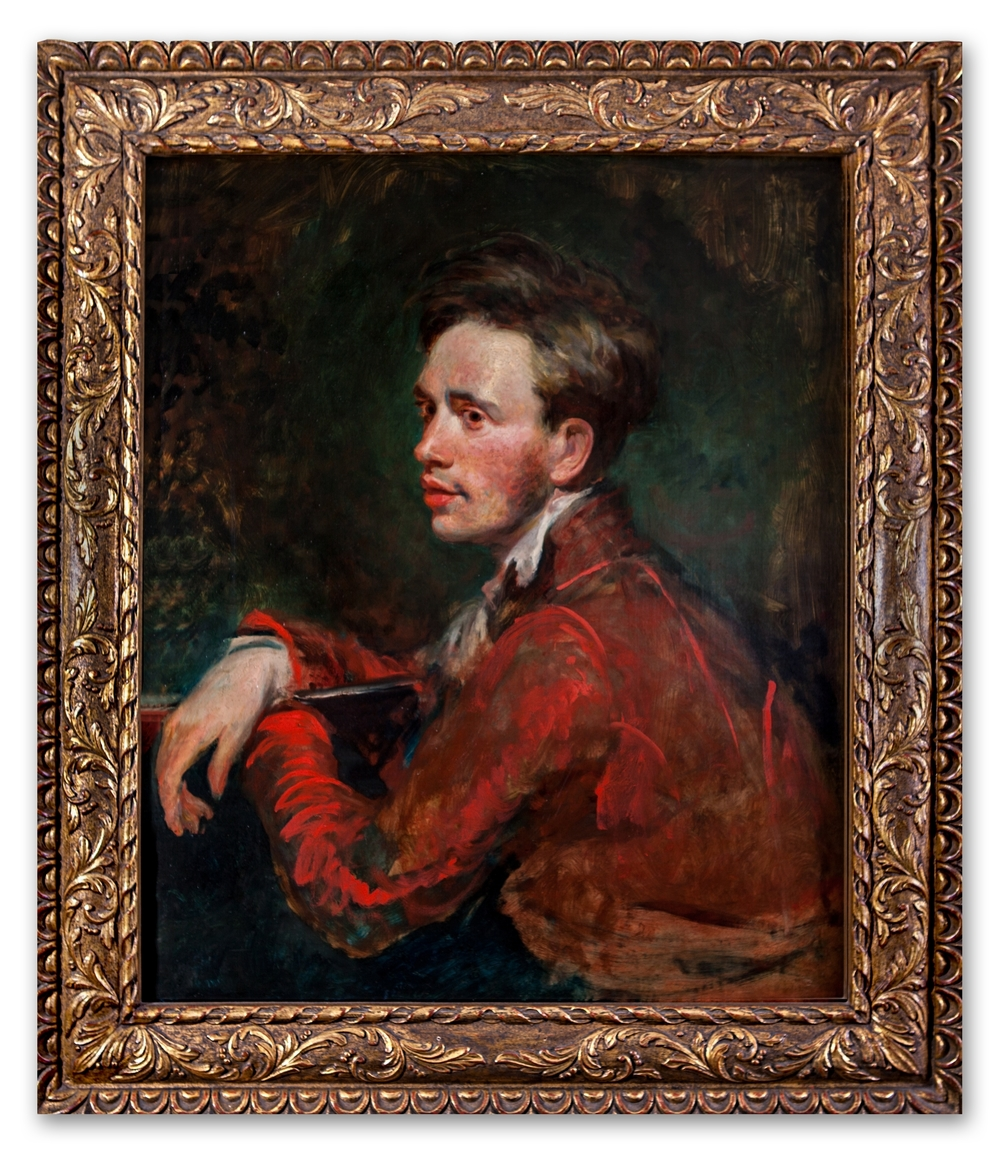 Continental School, Portrait of a Man in a Red Jacket, 19th Century.