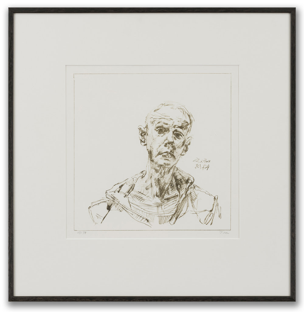 Werner Tübke (German 1929-2004), Self-Portrait, 1984.
