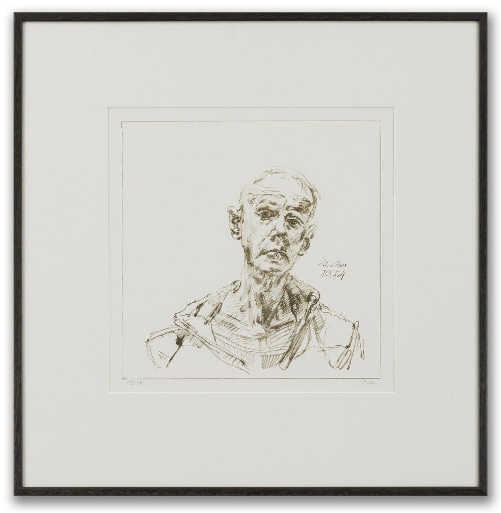 Werner Tübke (German 1929-2004), Self-Portrait, 1984.