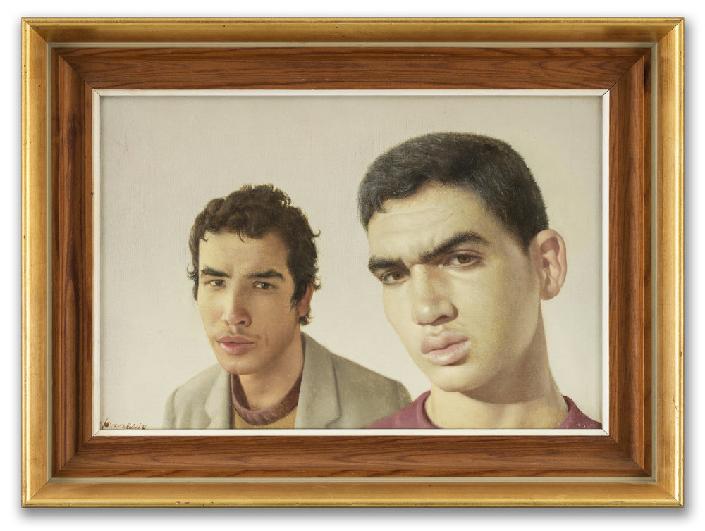 Patrick Hennessy, (Irish 1915-1980),  Portrait of Two Young Men, undated.