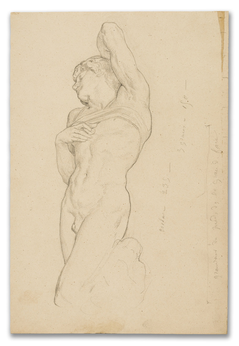 Charles Louis Muller, (French 1815-1892), Academic Study after Michelangelo, 19th Century.