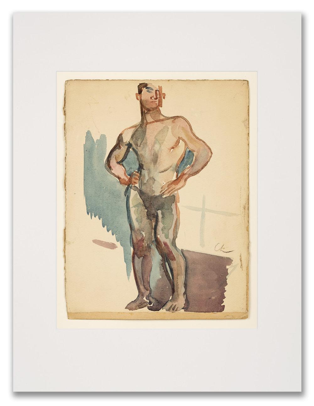 Serge Choubine, (Russian c.1900-1931), Male Figure, 20th Century.