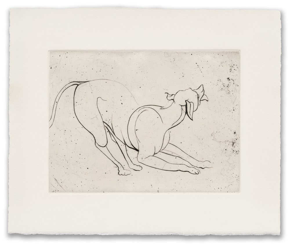 Francis West, (British 1936-2015), Crouching Dog, c.1979 (2017 Edition).