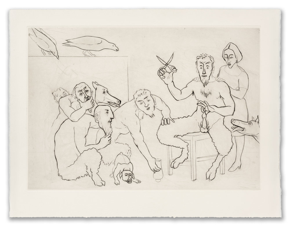 Francis West, (British 1936-2015), Satyrs with Scissors, c.1999 (2017 Edition).