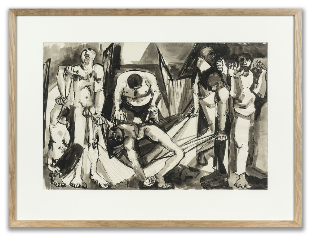 Peter de Francia, (British 1921-2012), Study for African Prison, c.1959.