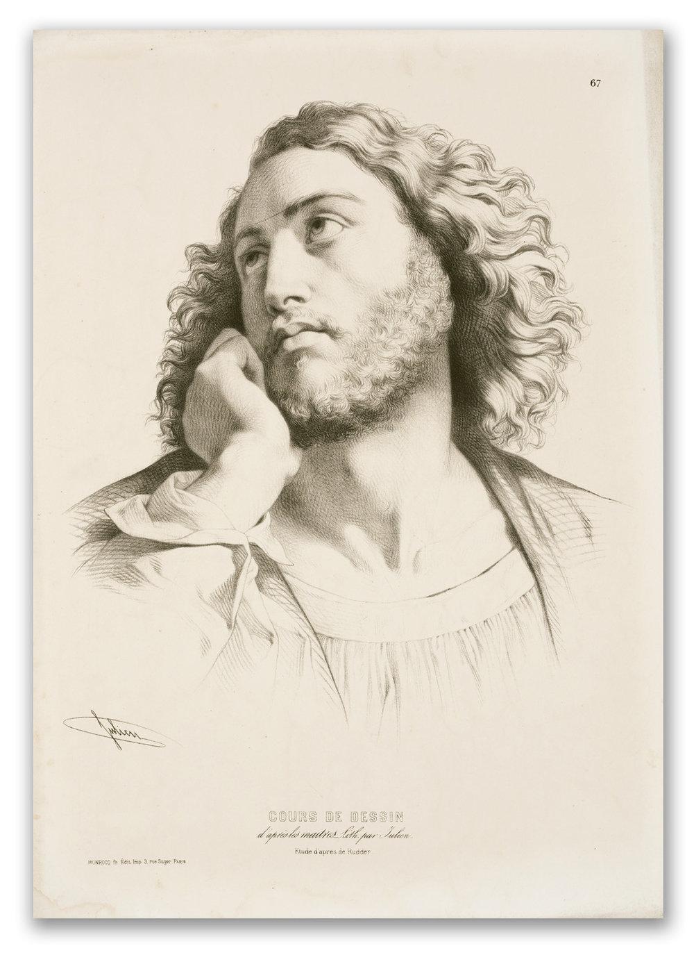 Bernard Romain Julien, (French 1802-1871), Cours de Dessin after Louis Henri de Rudder, c.1850.