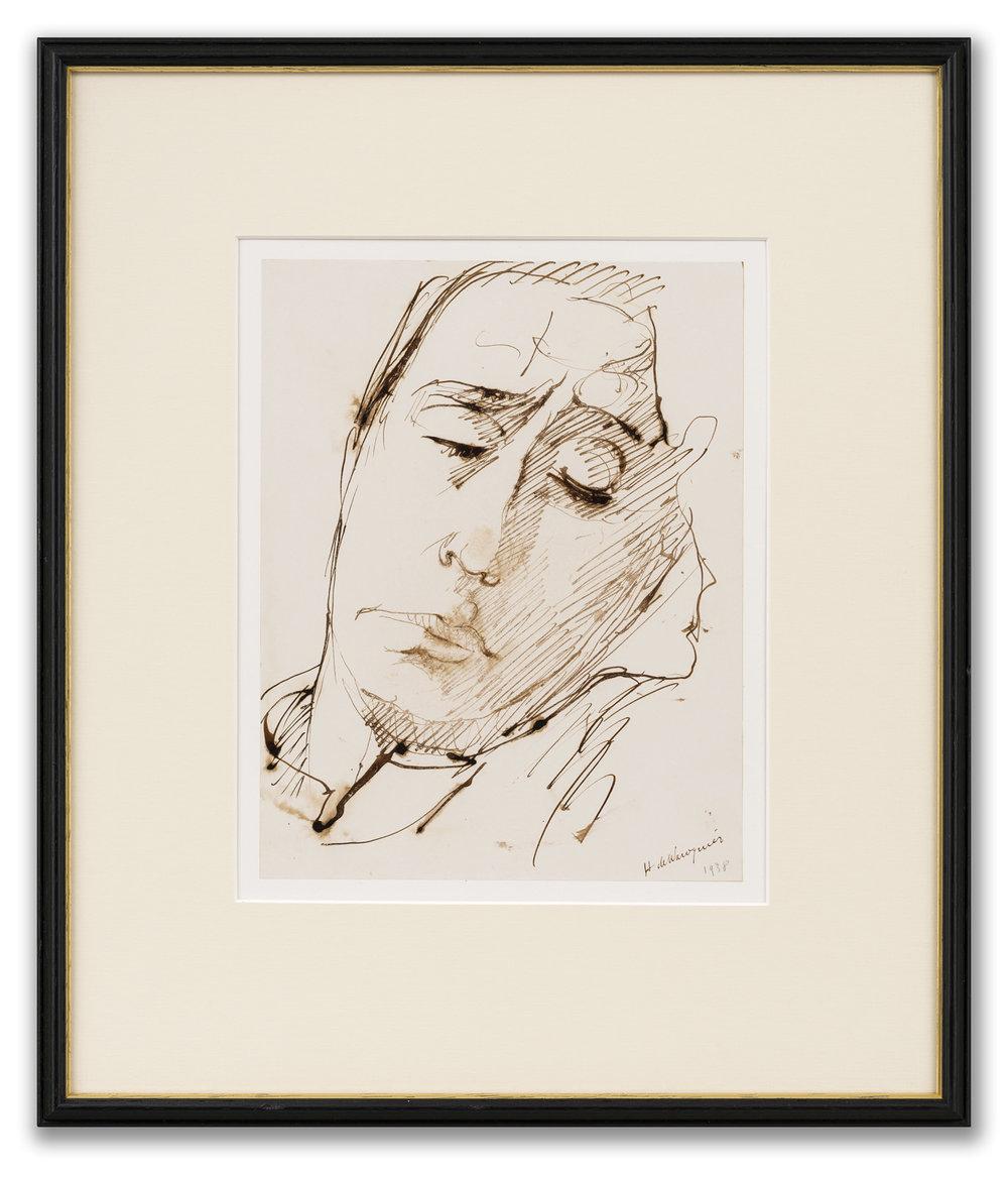 Henry de Waroquier (French 1881-1970), Male Portrait, 1938.