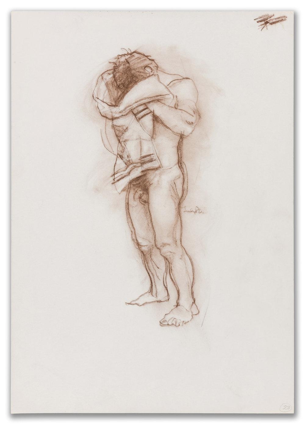 Michael Leonard, (British b.1933), Male Figure Study, July 1980.