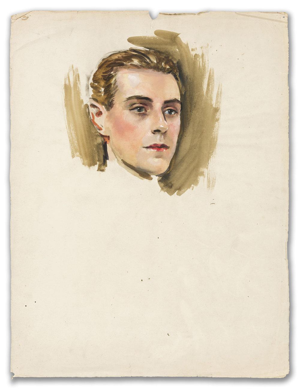 William Bruce Ellis Ranken, (British 1881-1941), Portrait of a Young Man, 1914.