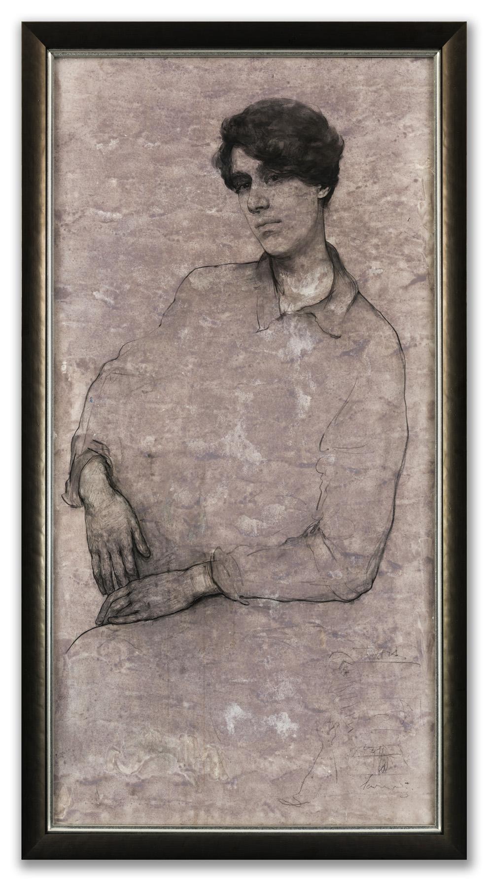 Valeria Lakrisenko, (Russian b.1992), Portrait of Sam, 2015.