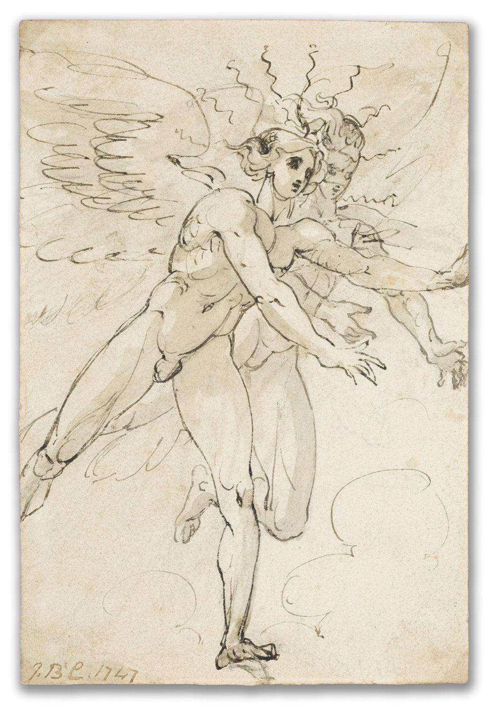 Giovanni Battista Cipriani, R.A., (1727-1785), Two Angels, 1747.
