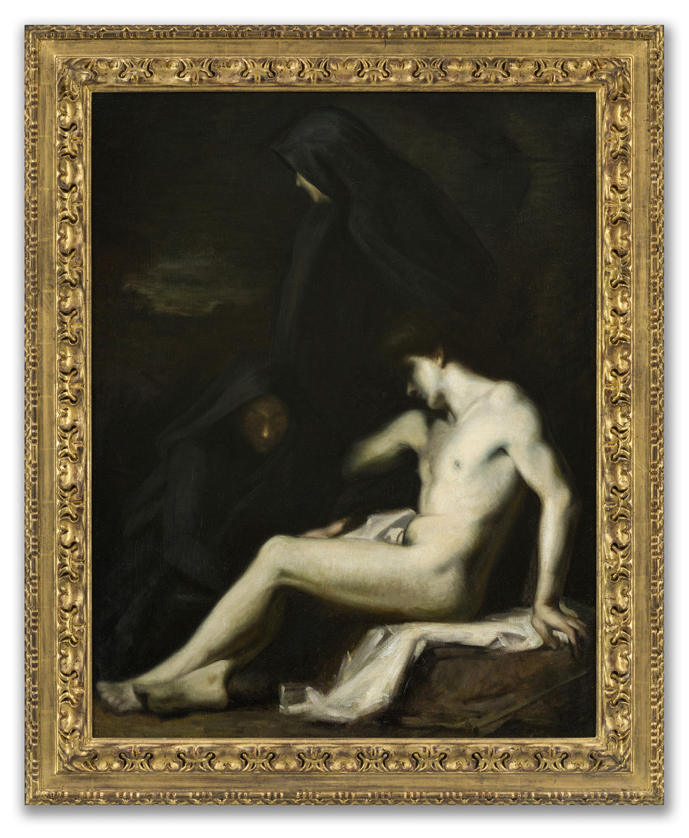 (Attributed to) Jean-Jacques Henner, (French 1829-1905), St Sebastian, c.1888.