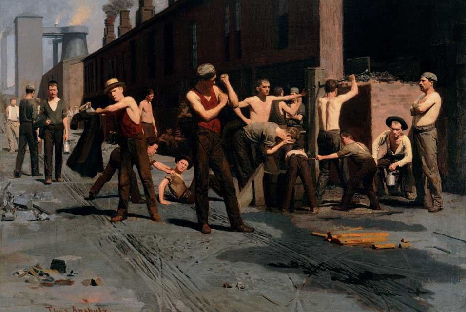 Ironworkers at Noon,  1880, oil on canvas, Museum of Fine Arts, San Francisco.