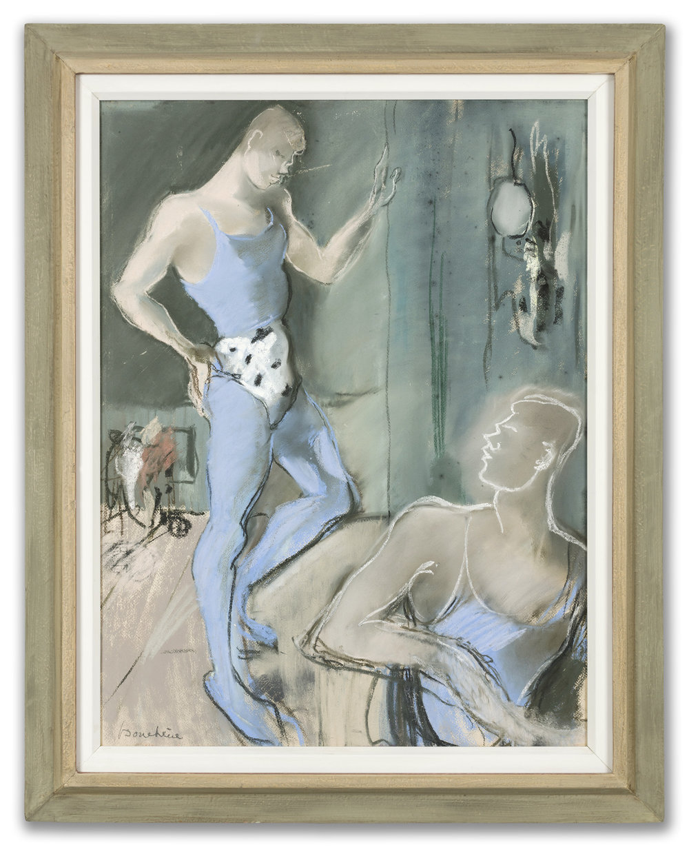 Dimitri Bouchéne, (Russian 1893-1993) Dans La Loge, c.1920s.