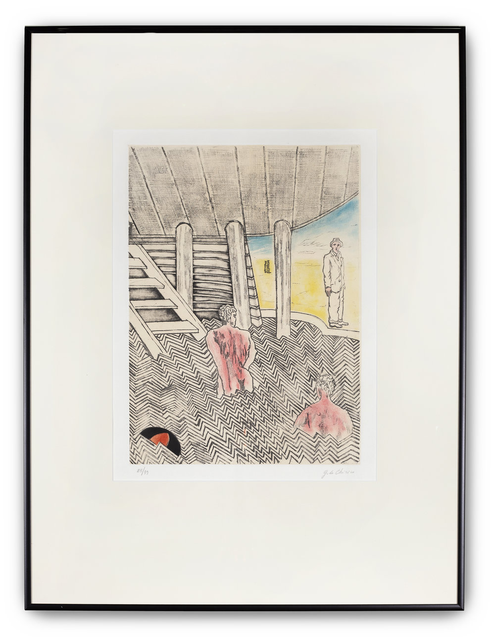 Georgio de Chirico, (Italian 1888-1978), Bagni Misteriosi, 1973.