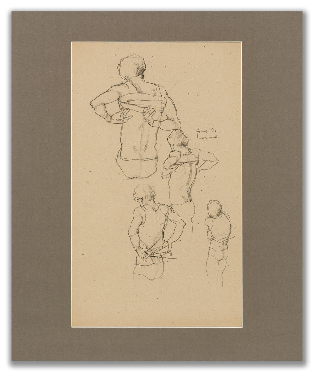 Michael Leonard, (British b.1933), Singlet off and on fast; back view x 4, 1974.
