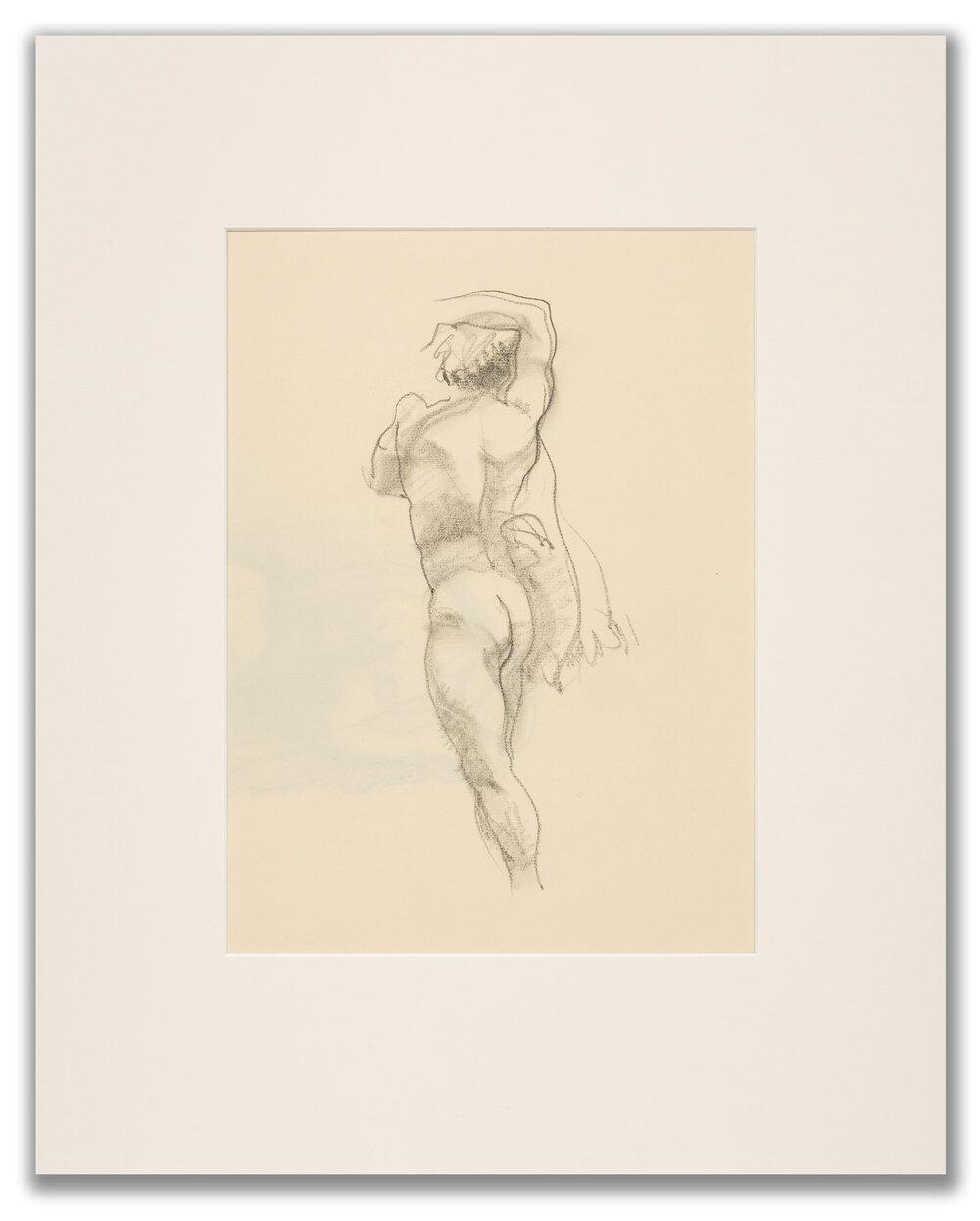 Michael Leonard, (British b.1933), Dancer with a towel; back view, c.1980.