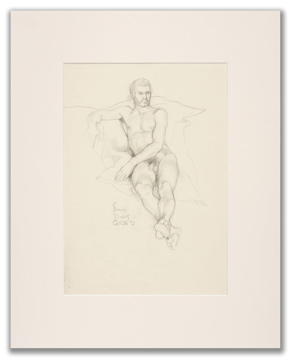 Michael Leonard, (British b.1933), Lying back; front view, 1972.