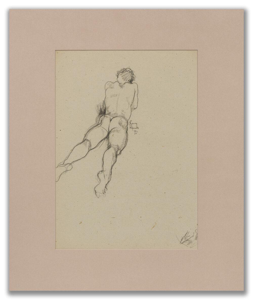Michael Leonard, (British b.1933), Man lying on his front, 1972.